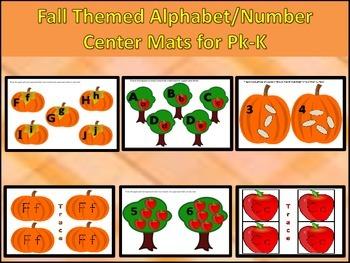 Fall Apples and Pumpkin Reading/Math Center Activities