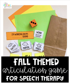 Fall Themed Articulation Game for Speech Therapy