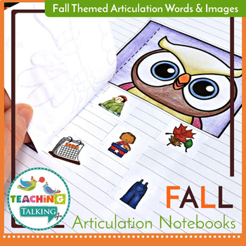 Fall Articulation Activities for Notebooks
