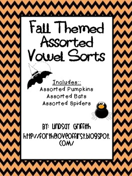Fall Themed Assorted Vowel Sorts
