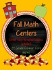 Fall Themed Back-to-School Math Centers 3rd Grade