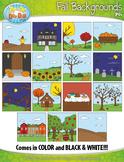 Fall Background Scenes Clipart {Zip-A-Dee-Doo-Dah Designs}
