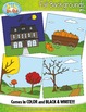 Fall Themed Background Scenes Clip Art Set — Includes 30 G