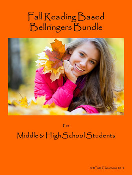 Fall Themed Bellringers for Middle School & High School Students Bundle