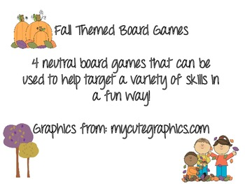 Fall Themed Board Games