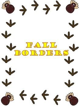 Fall Themed Borders