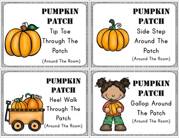 Autumn Themed Brain Break Cards