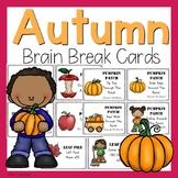 Autumn Themed Brain Break Cards