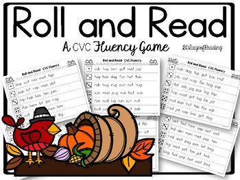 Fall Themed CVC Roll and Read