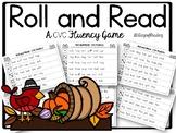 Fall Themed CVC Roll and Read