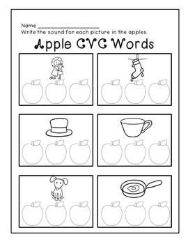 Fall Themed CVC Words