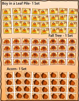 Fall Themed Calendar Numbers