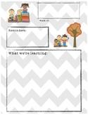 Fall Themed Classroom Newsletter