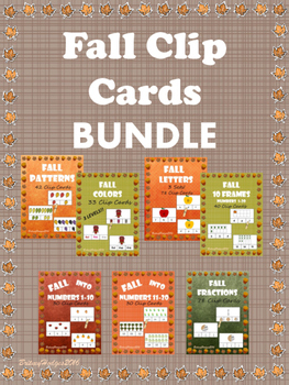 Fall Themed Clip Cards BUNDLE