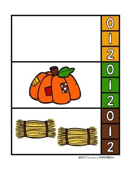 Fall-Themed Clip Cards for Counting 0-20