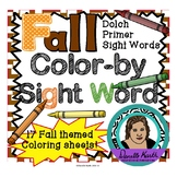 Fall Themed Color-By-Sight Word Coloring Pages 2 - Dolch Primer Sight Words