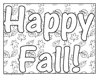 Fall Themed Coloring Pages