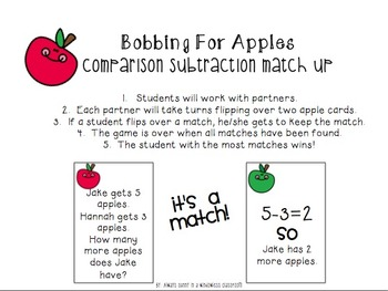 Fall Themed Comparison Subtraction Math Bundle
