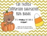 Fall Themed Comparison Subtraction Math Bundle