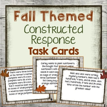 Fall Themed Multi-Step Word Problems {Great for Constructed Response}