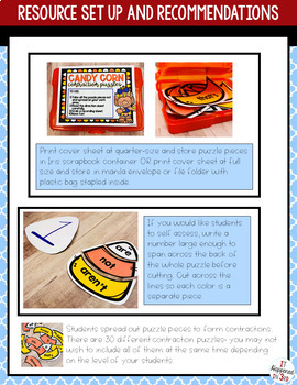 Fall Themed Contractions Activity