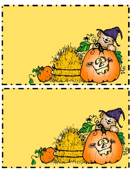 Fall Themed Counting Boards Set