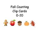 Fall Themed Counting Clip Cards 0-20