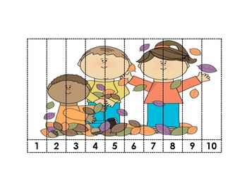 Fall-Themed Counting Puzzles