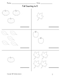 Fall Themed Counting to Five