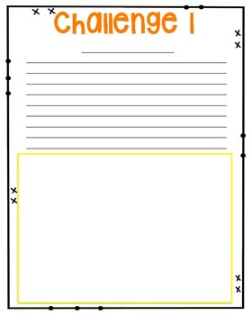 Fall Themed Critical Thinking Task Cards and Challenge sheets