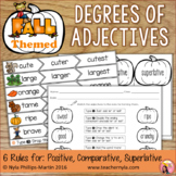 Fall Themed Degrees of Adjectives - Tables, Foldable, Sort