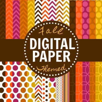 Fall Themed Digital Paper Pack