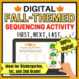 Fall Themed Digital Sequencing Activity for 1st Grade and Kindergarten, 2nd