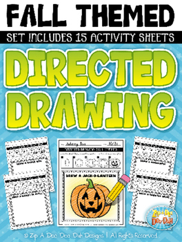 Fall Themed Directed Drawing Activity Pack — Includes 15 Sheets!