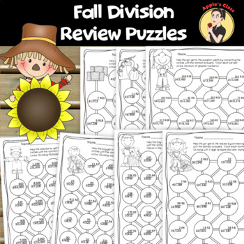 Fall Themed Division Review Puzzles