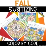 Fall Subitizing | No Prep Color By Number Activities