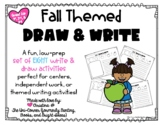 Fall Themed Draw and Write Directed Drawing