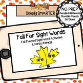 Fall Themed Editable Sight Word Activities For GOOGLE CLASSROOM