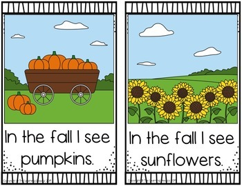 Fall Themed Emergent Readers