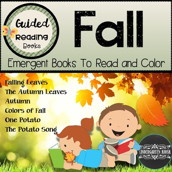 Fall Themed Emergent Guided Readers