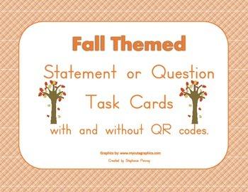 Fall Themed End Mark Task Cards