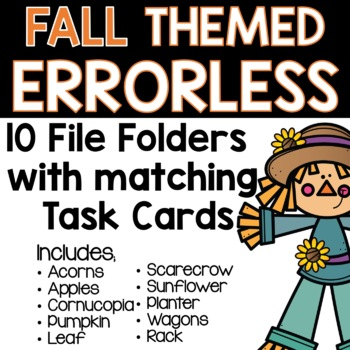 Fall Themed Errorless Activities