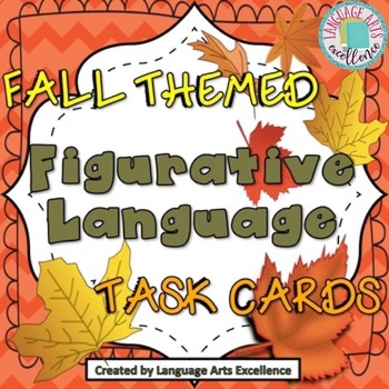 Fall-Themed Figurative Language Task Cards - Set of 35 Cards