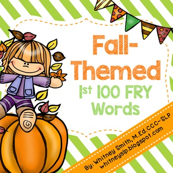 Fall-Themed First 100 Fry Words