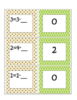 Fall Themed: First Grade Common Core Math Subtraction-Missing Numbers