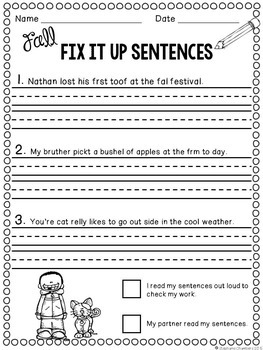 St. Patrick's Day Math and Literacy March No Prep Pack | Sentences ...
