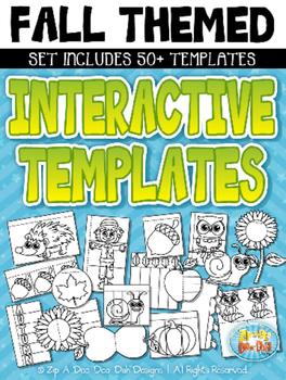 Fall Flippable Interactive Templates {Zip-A-Dee-Doo-Dah Designs}