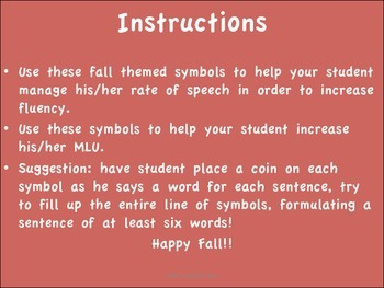 Fall Themed Fluency and MLU helper FREEBIE!!