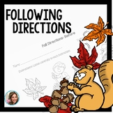 Following Directions | Fall Theme