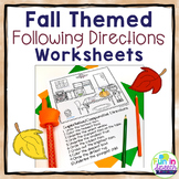 Fall Following Directions Worksheets